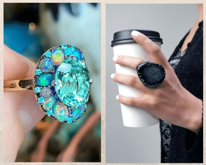 Как носить крупные кольца: каждый день и по особому случаю. Выбираем материал