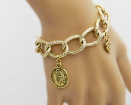Украшение на руку: модные решения при создании и выборе браслетов. Женский браслет, массивные звенья с подвесками