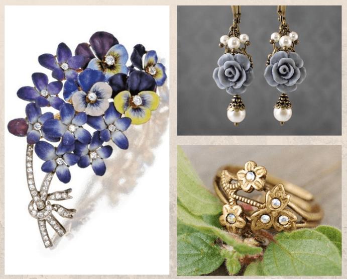 Ювелирные украшения с цветами. Значения