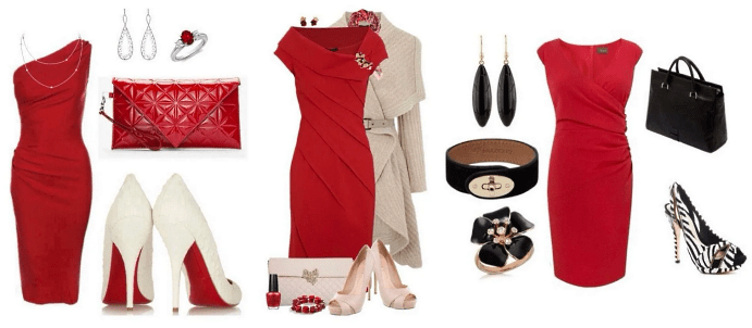 Украшения к красному платью: как выбирать и носить. Черно-белые украшения к красному платью