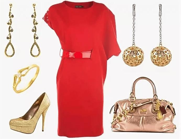 Украшения к красному платью: как выбирать и носить. Красное платье и золотые украшения