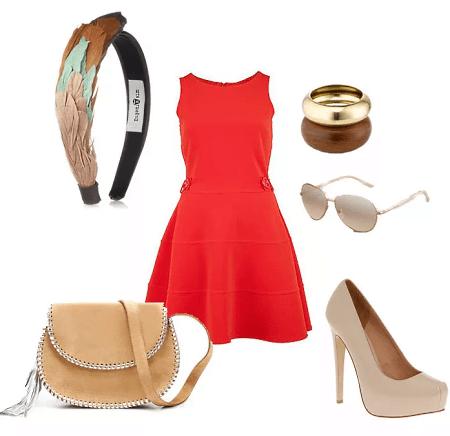 Украшения к красному платью: как выбирать и носить. Сочетание оливковых и бежевых оттенков с красным платьем