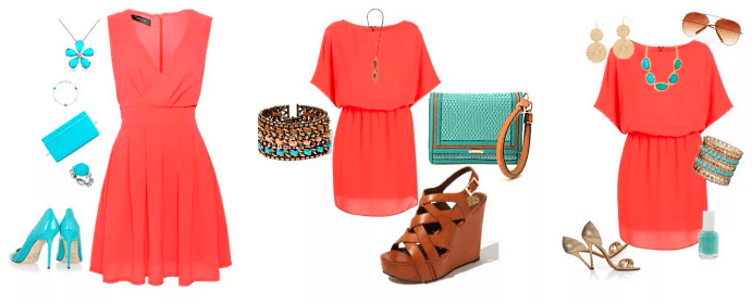 Украшения к красному платью: как выбирать и носить. Сочетание бирюзовых оттенков с красным платьем