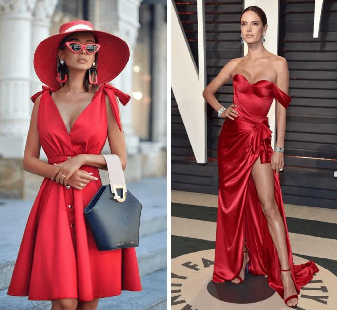 Чтобы гарантированно подобрать лучшее сочетание красного цвета в одежде и аксессуарах, следует отдавать предпочтение классическим цветам