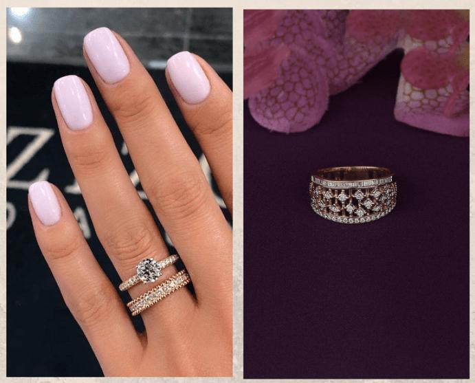 Как выбрать украшения под цвет лака для ногтей. Розовый