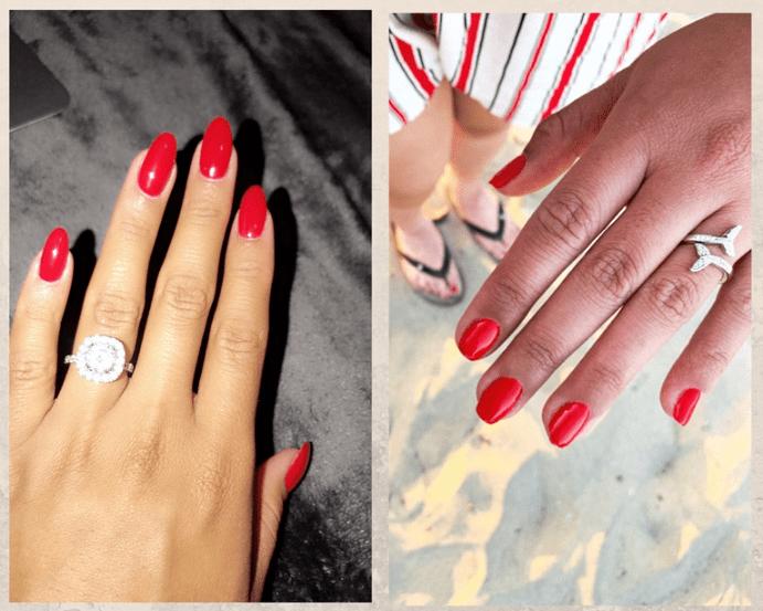Как выбрать украшения под цвет лака для ногтей. Красный