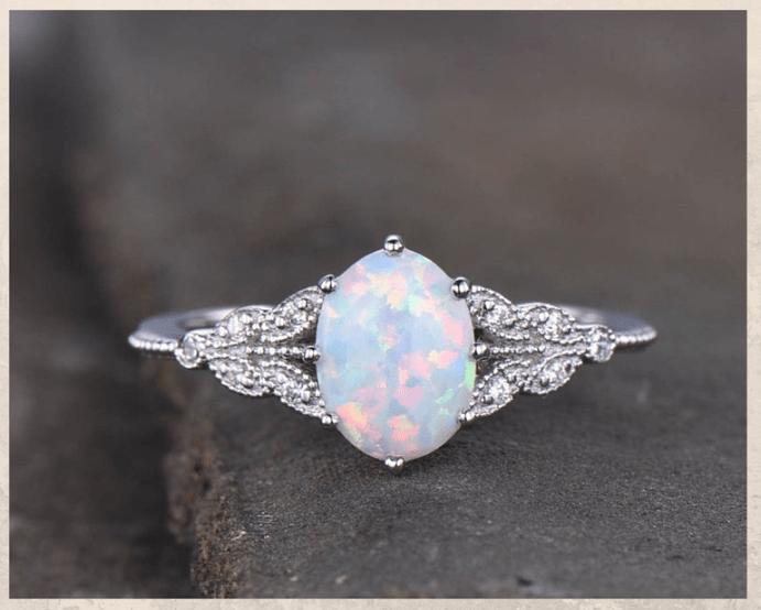 Как ухаживать за украшениями из родированного серебра. Серебряное кольцо с опалом