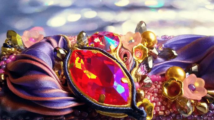 Украшения шибори – новое направление в Hand Made. Яркое украшение