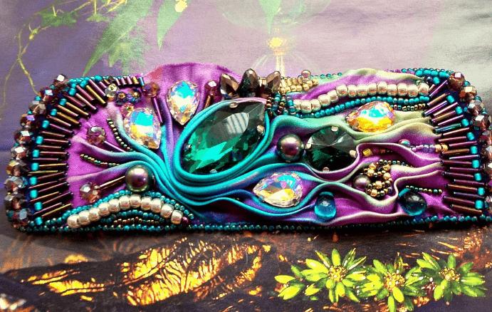 Украшения шибори – новое направление в Hand Made. Разноцветный яркий браслет
