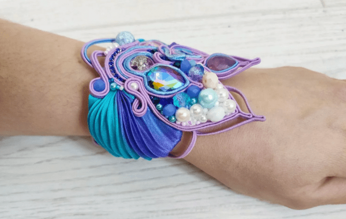 Украшения шибори – новое направление в Hand Made. Яркий браслет