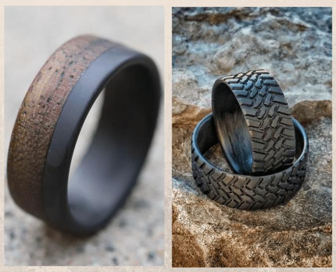 Карбоновые кольца: легкие, практичные и ультрасовременные. Варианты оформления
