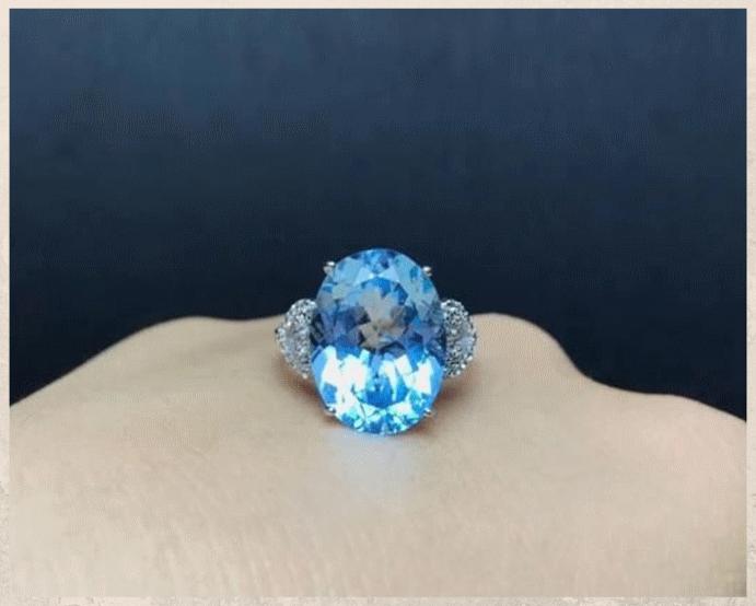 Топаз Скай Блю: небесно-голубой камень. Варианты использования