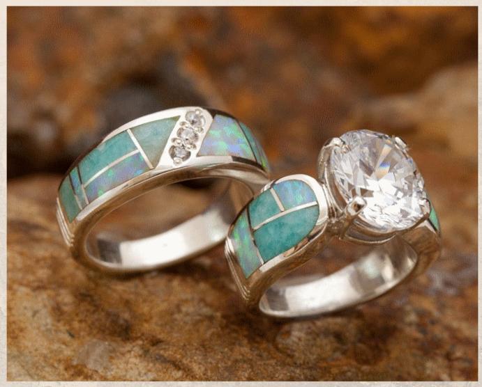 Серебряные обручальные кольца: почему спрос на них растет. Серебро с цветными камнями