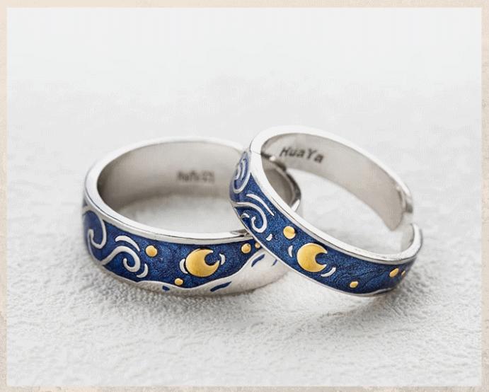 Серебряные обручальные кольца: почему спрос на них растет. Серебро с эмалью