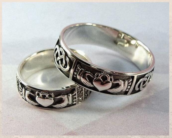 Серебряные обручальные кольца: почему спрос на них растет. Кольца Кладда
