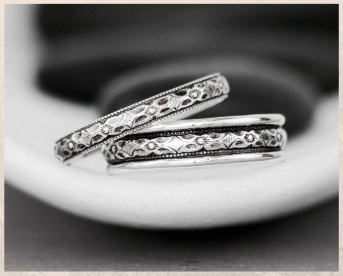 Серебряные обручальные кольца: почему спрос на них растет. Оксидированное серебро