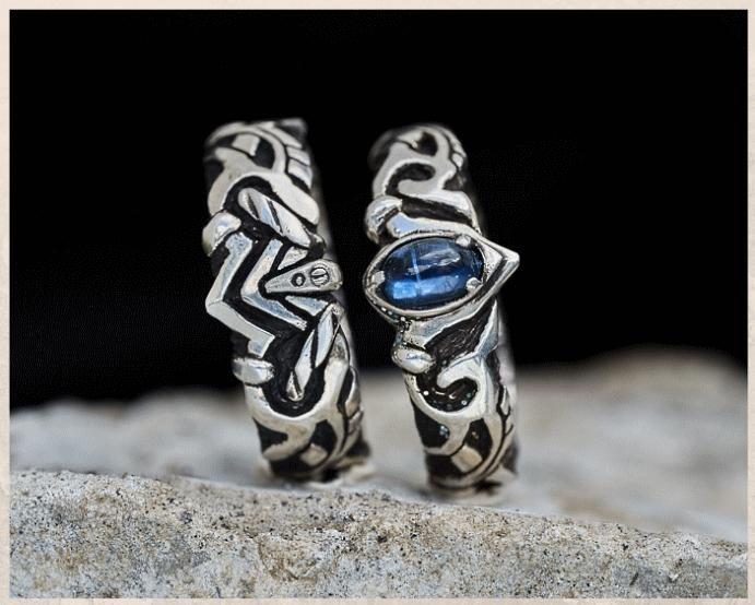 Серебряные обручальные кольца: почему спрос на них растет. Черненое серебро