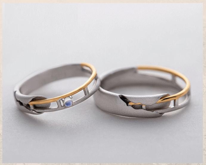 Серебряные обручальные кольца: почему спрос на них растет. Серебро с золотом