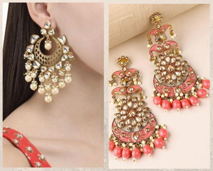 Серьги Чанд Бали: модный тренд из Болливуда. Материалы
