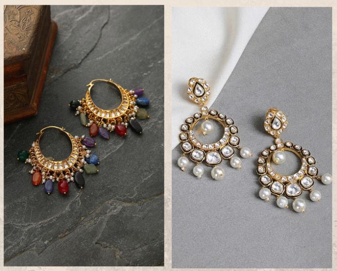 Серьги Чанд Бали: модный тренд из Болливуда. Виды