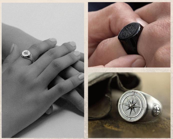 Перстень Роза ветров: для моряков и путешественников. Цены