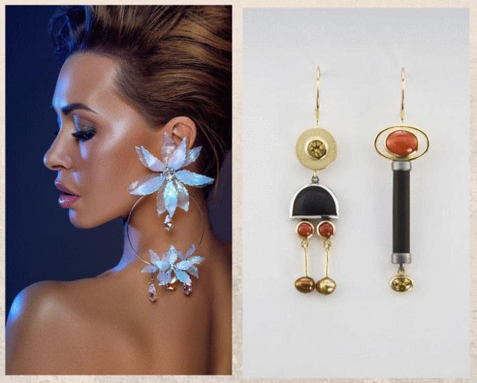 Модные ювелирные украшения: что носить осенью 2021 года. Асимметрия