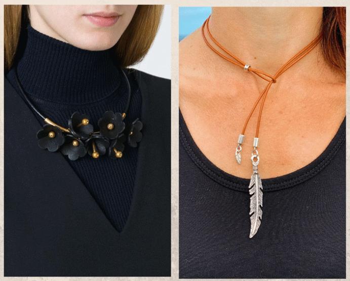 Модные ювелирные украшения: что носить осенью 2021 года. Кожа