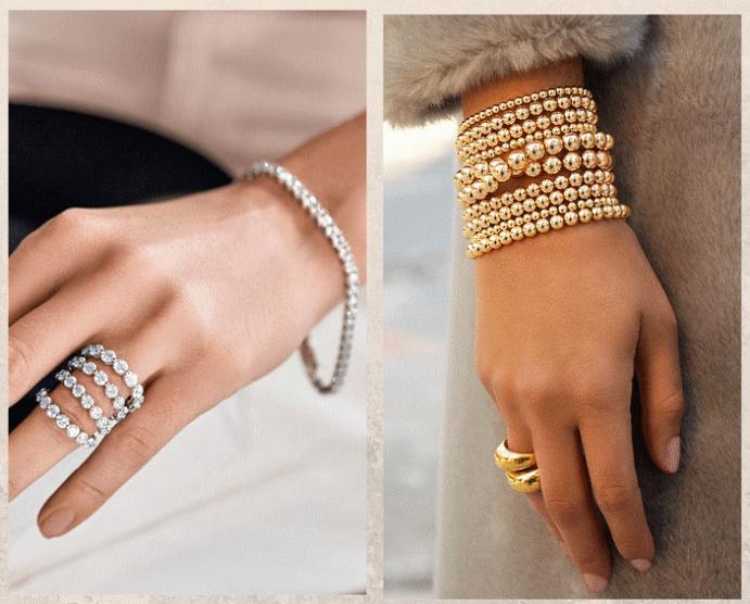 Французский стритстайл: учимся носить украшения, как это делают в Париже. Пара браслет + кольцо