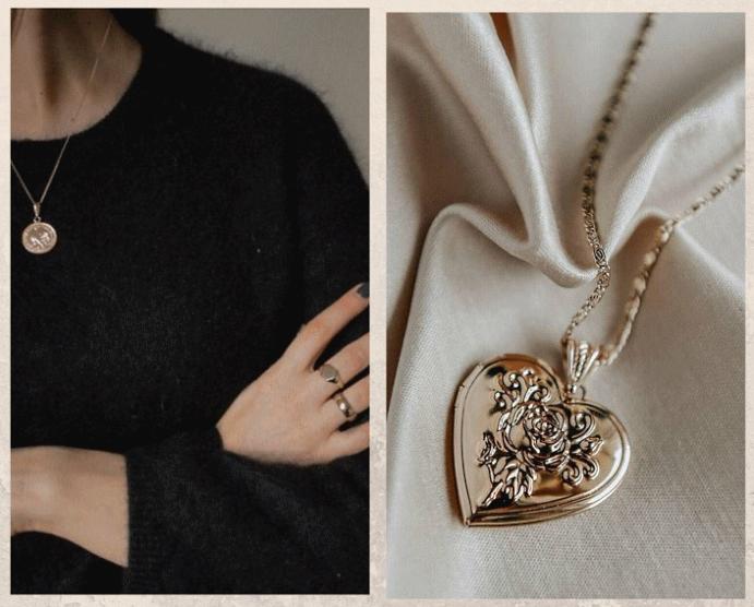 Французский стритстайл: учимся носить украшения, как это делают в Париже. Медальоны