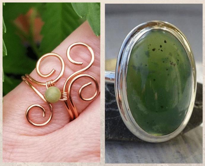 Серпентин: камень с текстурой змеиной кожи. Серпентин в ювелирном деле