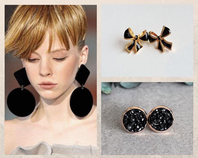 Черные серьги: обзор популярных женских и мужских моделей. Серьги с черными камнями
