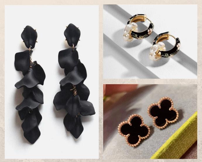 Черные серьги: обзор популярных женских и мужских моделей. Хагги черного цвета. Черные серьги конго