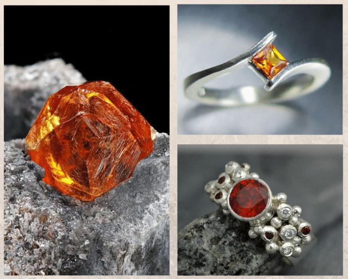 Спессартин: драгоценный камень мандаринового цвета. Цвета