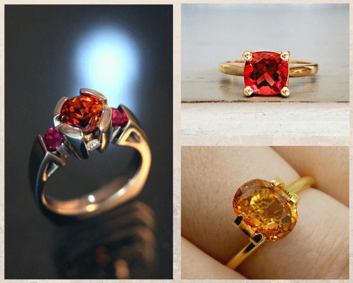 Спессартин: драгоценный камень мандаринового цвета. Украшения со спессартином