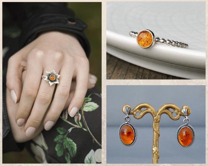 Как ухаживать за янтарными украшениями. Как почистить янтарь в серебре или золоте