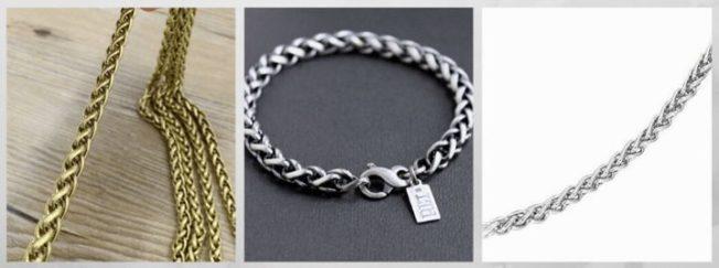 плетение Колосок цепи браслеты