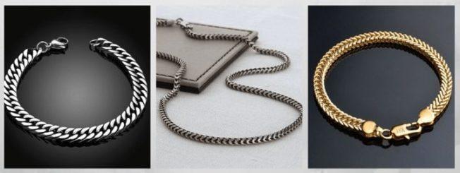 плетение Квадратный снейк цепи браслеты