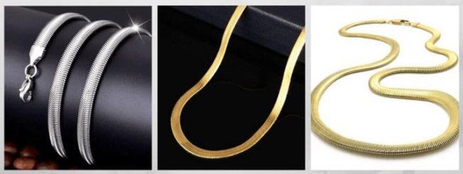 плетение Плоский снейк цепи браслеты