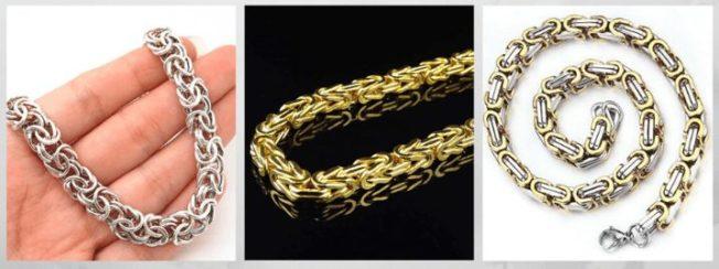 Византийская цепь, византийское плетение цепи браслеты