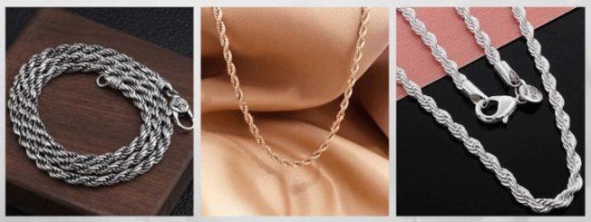 Кордовая цепь, кордовое плетение цепи браслеты