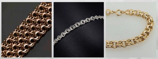 плетение Гарибальди цепи браслеты